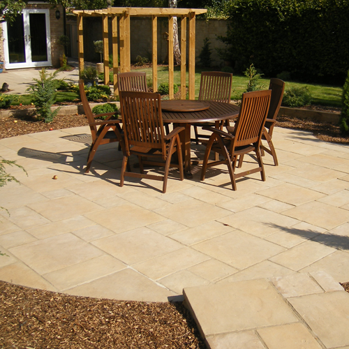 Worn Limestone Paving