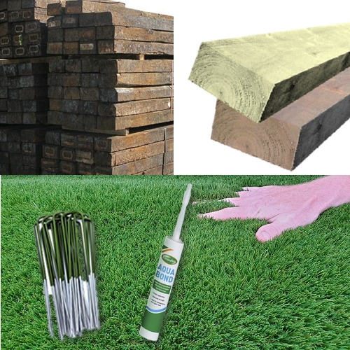 Artificial Grass & Sleepers