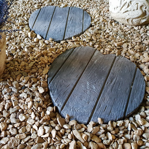 Wooden Heart Stepping Stone