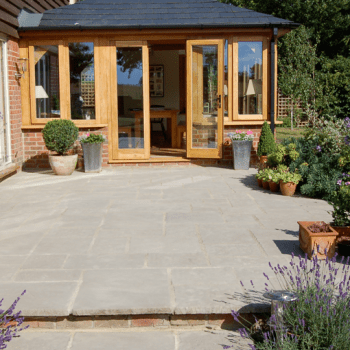 beautiful and clean garden paving slabs